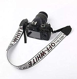 Off White Camera Strap - White Silver for Sale in Las Vegas, NV