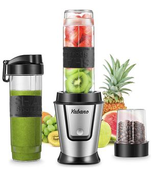 Personal Blender with 2 x 20oz Travel Bottle and Coffee/Spices Jar, Portable Smoothie Blender and Coffee Grinder in One, 500W Single Serve Blender fo for Sale in Corona, CA