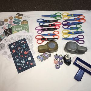 Journaling / Scrapbook Punches, Scissors, Stickers, Etc for Sale in Henderson, KY