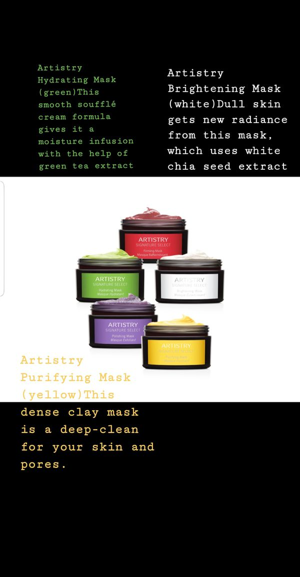 Amway Artistry skin care 5 masks