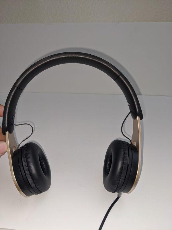 Ultra headphones in light gold