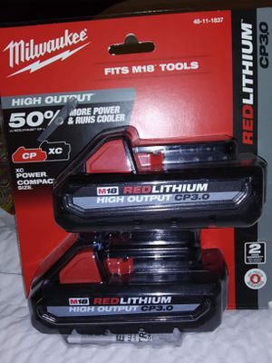Milwaukee lithium ion battery 3.0 for Sale in Columbia, MO