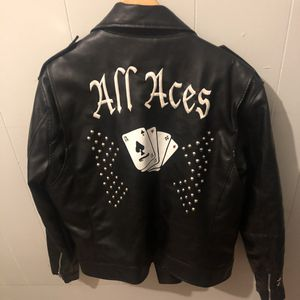 Guess Moto Leather Jacket size Large for Sale in Milford, CT