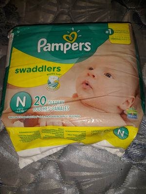 Pampers newborn 20 pack for Sale in Bear Lake, MI