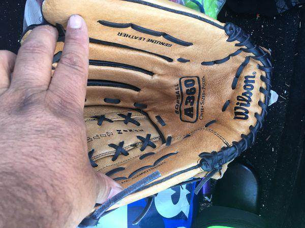 Wilson 13 inch left hand softball glove