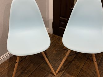 Pair Of 2 Eames Style Century Dining Chairs - Teal Light Blue Color Modern Mid Century Look Chair for Sale in Los Angeles,  CA