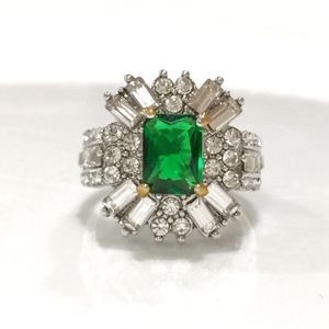 Silver princess cut emerald cz ring for Sale in Silver Spring, MD