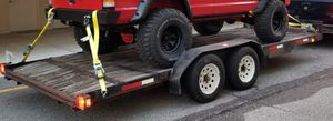 Trailer 18ft x 7ft Car Hauler Full Wood Floor With Ramps for Sale in Kissimmee, FL