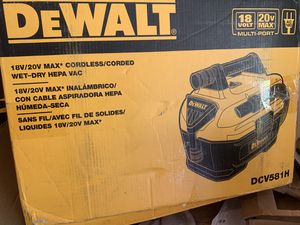 Dewalt vac 18/20 volt new firm price for Sale in Plant City, FL