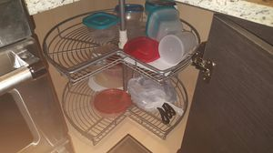 28 inch 2 tier chrome lazy susan for Sale in Houston, TX