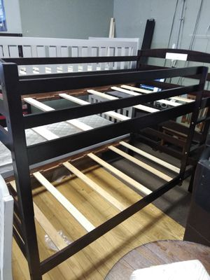 Black Twin over twin bunk bed for Sale in Peoria, AZ