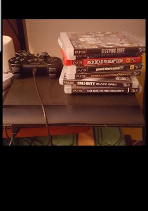 PlayStation 3 with games and 2 controllers ps3 for Sale in Baldwin Park, CA