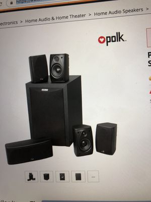 Polk audio speaker set with subwoofer and Pioneer 5:1 receiver for Sale in Pleasanton, CA