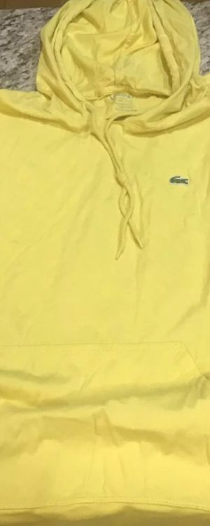 Lacoste yellow lt weight hoodie shirt size 5 moving need gone for Sale in Tyrone, GA