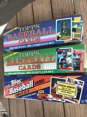 Baseball Cards (Topps Complete Sets - 1989, 1990, and 1991) for Sale in Charleston, SC