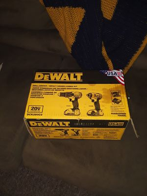 New 20 volt dewalt drill driver 2 batteries charger and bag. New in box for Sale in Clarksburg, WV