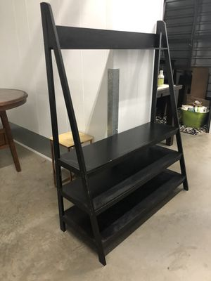 Black tv stand shelving unit for Sale in San Diego, CA