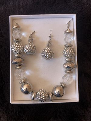 Silver Necklace and Earring Set for Sale in Los Angeles, CA
