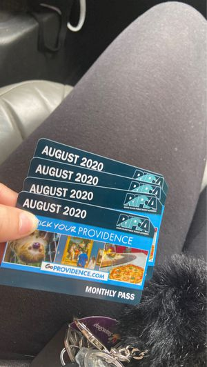 August bus passes (4) for Sale in Pawtucket, RI