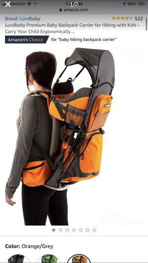 Luvdbaby Premium Baby Backpack Carrier for Hiking with Kids – Carry Your Child Ergonomically… for Sale in Temecula, CA