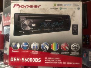Pioneer DEH-S6000BS CD Receiver with Enhanced Audio Functions, Improved Pioneer ARC App Compatibility MIXTRAX, Built in Bluetooth and SiriusXM Ready for Sale in Gardena, CA