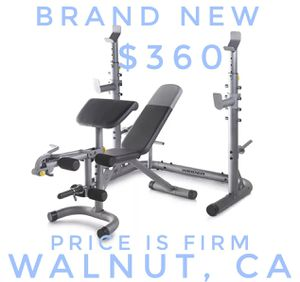 Weider XRS 20 Adjustable Olympic Workout Bench with Independent Squat Rack and Preacher Pad for Sale in Walnut, CA