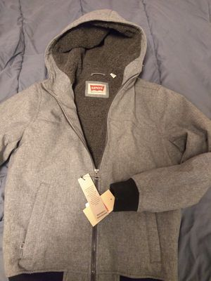 New Levi's Sherpa lined hoodie bomber jacket for Sale in Wheaton, MD