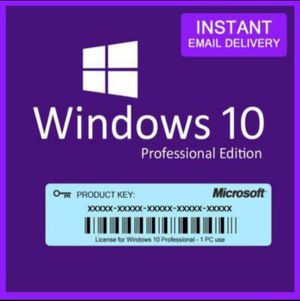 Microsoft Windows 10 Professional Pro 32/64 bit Product Key Activation!! for Sale in Muscoy, CA