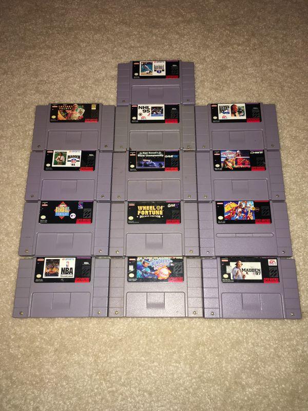 Lot of Super Nintendo (SNES) games