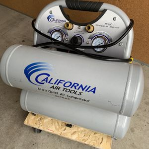 California Air Tools CAT-4610AC Ultra Quiet & Oil-Free 1.0 hp 4.6 gallon Aluminum Twin Tank Electric Portable Air Comp for Sale in Bothell, WA