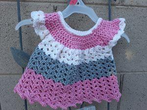 Crochet newborn dress with diaper cover for Sale in Queen Creek, AZ