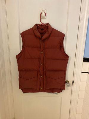 Burgundy LL Bean down vest- men's small for Sale in Arlington, VA