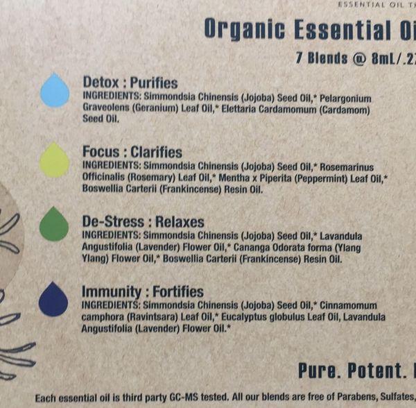 21 drops organic essential oil set