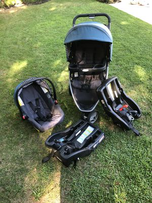 Car seat, stroller, and two bases for Sale in Fresno, CA