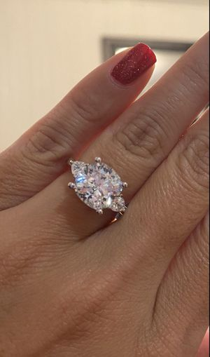 Sterling Silver Synthetic Diamond Engagement/Wedding Ring *Brand New* for Sale in El Cajon, CA