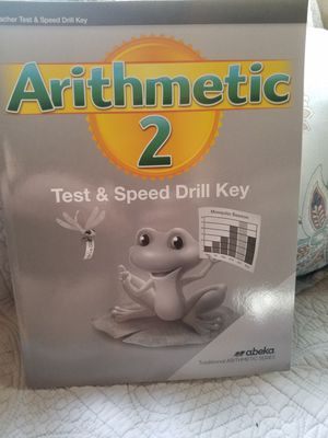 Abeka arithmetic grade 2 test and speed drill key for Sale in Montverde, FL