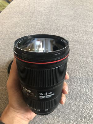 Canon 16-35 mm F4 lens with $129 BW filter for Sale in Seattle, WA