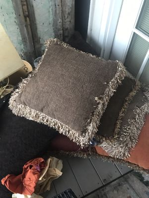 Pillows all 20 bucks two bar stools. 50 both indoor outdoor new rug 50 bucks. for Sale in Slidell, LA