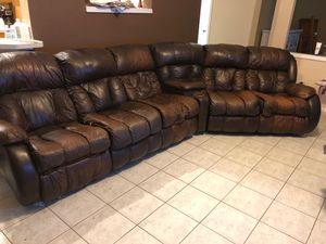 Real Leather Sectional Couch for Sale in Melbourne, FL