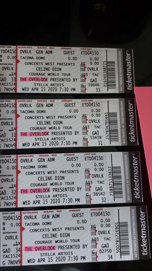 Celine dion tickets for Sale in Burien, WA