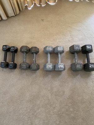 Dumbbell Set 10-25 lbs for Sale in McLean, VA