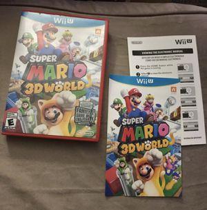 Super Mario 3D World Wii U CASE MANUAL Only for Sale in Murrieta, CA