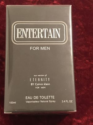 ENTERTAIN for MEN our version of ETERNITY by CALVIN KLEIN for Sale in Dallas, TX