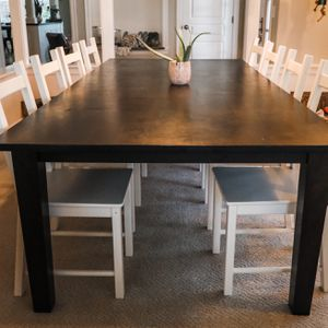 10 Foot Mango Wood Dining Table & 8 Chairs for Sale in Oregon City, OR