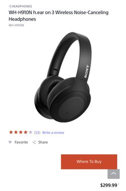 Sony Bluetooth headphones noise cancelation wireless for Sale in Riverside,  IL