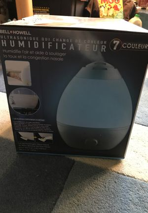 ultrasonic color changing humidifier for Sale in Lynnwood, WA