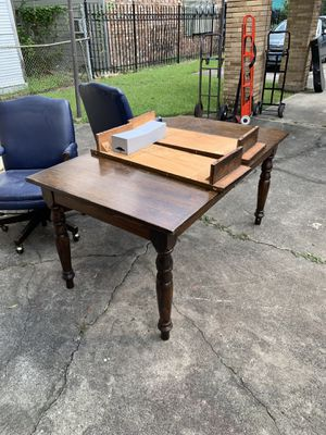 Dining Table & 8 Rolling Leather Chairs for Sale in Houston, TX
