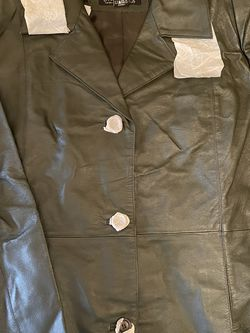 Genuine Leather NWT Hunter Green Jacket for Sale in Smiths Station,  AL