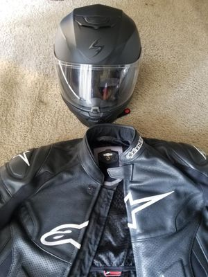 Mens Alpinestars Leather motorcycle riding jacket sz 42 USA 52 EUR for Sale in Takoma Park, MD