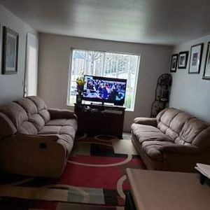 Sofa And Sofa Recliner Good Condition $80 for Both for Sale in Portland, OR